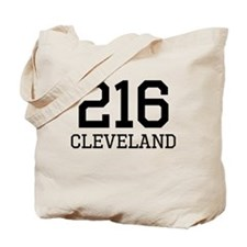 Cleveland Area Code 216 Tote Bag