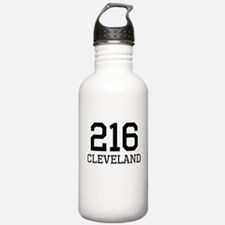 Cleveland Area Code 216 Sports Water Bottle