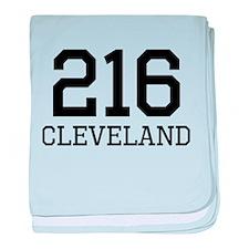 Cleveland Area Code 216 baby blanket