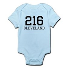 Cleveland Area Code 216 Body Suit