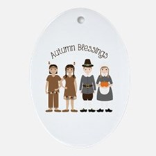 Autumn Blessings Ornament (Oval)