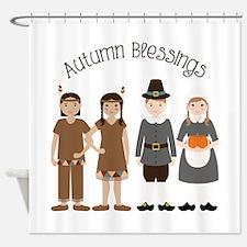 Autumn Blessings Shower Curtain