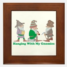 Hanging With My Gnomies Framed Tile