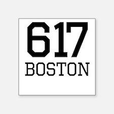 Boston Area Code 617 Sticker