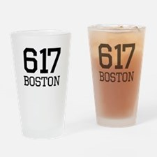 Boston Area Code 617 Drinking Glass