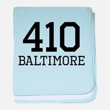 Baltimore Area Code 410 baby blanket