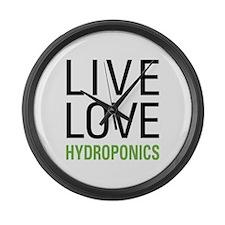 Live Love Hydroponics Large Wall Clock