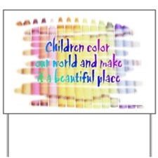 children color our world.png Yard Sign
