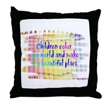 children color our world.png Throw Pillow