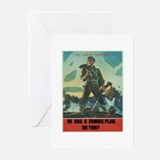 zombie plan Greeting Cards (Pk of 10)