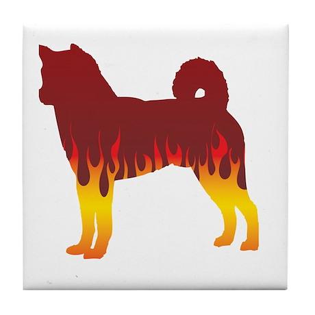 Shiba Flames Tile Coaster