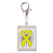 Suicide Prevention Silver Portrait Charm