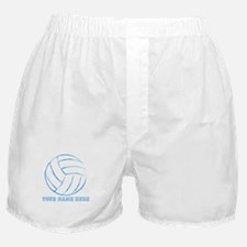 Custom Blue Volleyball Boxer Shorts