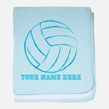 Custom Blue Volleyball baby blanket