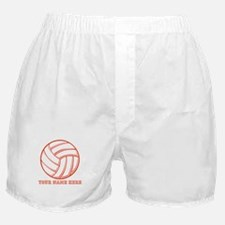 Custom Red Volleyball Boxer Shorts