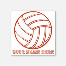 Custom Red Volleyball Sticker