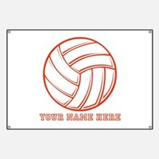 Custom Red Volleyball Banner