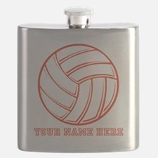 Custom Red Volleyball Flask