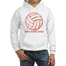 Custom Red Volleyball Hoodie