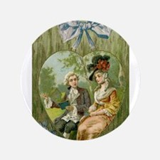 "Hearty Colonial Lovers Valentine 3.5"" Button"