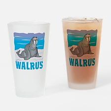 Kid Friendly Walrus Drinking Glass