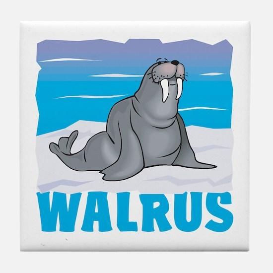 Kid Friendly Walrus Tile Coaster