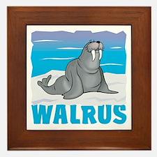 Kid Friendly Walrus Framed Tile