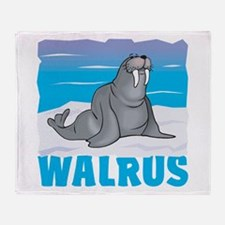Kid Friendly Walrus Throw Blanket
