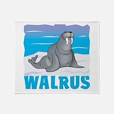 Kid Friendly Walrus Throw Blanket