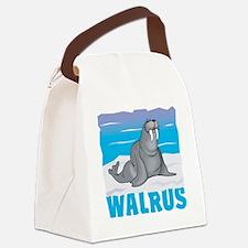 Kid Friendly Walrus Canvas Lunch Bag