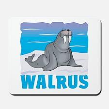 Kid Friendly Walrus Mousepad