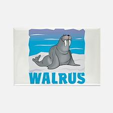 Kid Friendly Walrus Rectangle Magnet