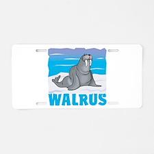 Kid Friendly Walrus Aluminum License Plate