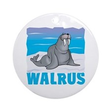 Kid Friendly Walrus Ornament (Round)