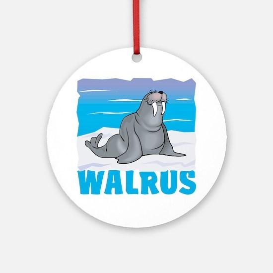 Kid Friendly Walrus Ornament (Round)