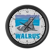 Kid Friendly Walrus Large Wall Clock