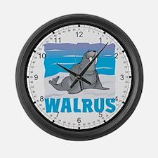 Kid Friendly Walrus Large Wall Clock