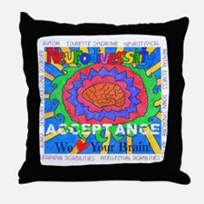Neurodiversity Acceptance: We <3 Your Throw Pillow