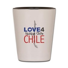Love for Iquique Chile Earthquake Shot Glass