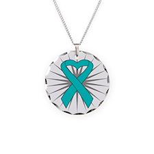 PTSD Necklace Circle Charm