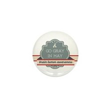 Go Gray In May Mini Button (10 Pack)