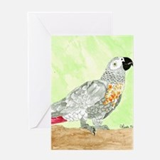 Voice-African Gray Greeting Card