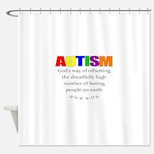 autism kills boredom Shower Curtain