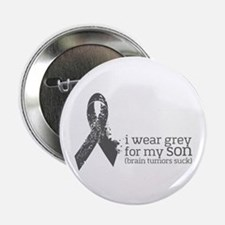 """I Wear Grey For My Son 2.25"""" Button (100 Pack"""