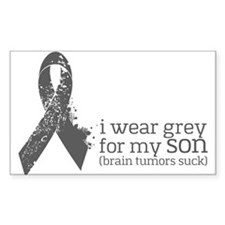 I Wear Grey For My Son Decal
