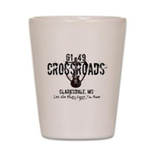 61/49 Crossroads Highway Sign with Guit Shot Glass