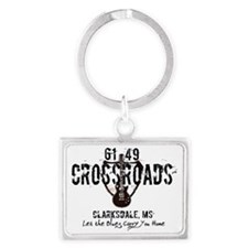 61/49 Crossroads Highway Sign w Landscape Keychain