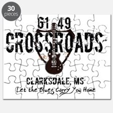 61/49 Crossroads Highway Sign with Guitar Puzzle