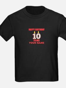 Happy Birthday To Me 10th Birthday (Custom) T-Shir