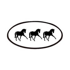Dressage Horse Sidepass Trio Patches